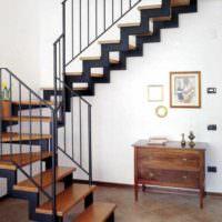 вариант необычного дизайна лестницы фото
