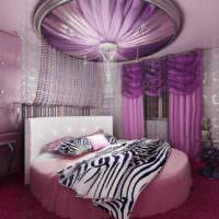 пример яркого дизайна спальни картинка