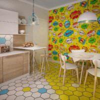 идея яркого дизайна дома в стиле поп арт картинка