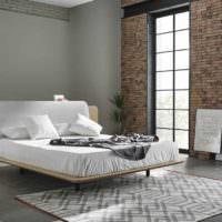 пример необычного стиля изголовья кровати фото