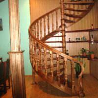 вариант красивого дизайна лестницы картинка