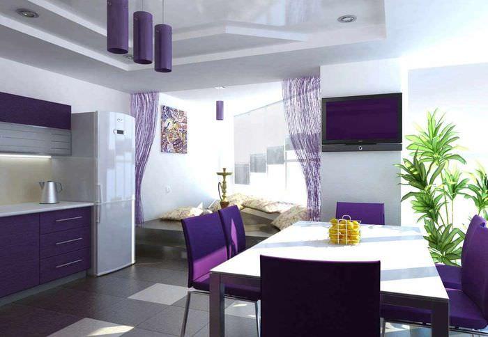 пример светлого проекта стиля кухни