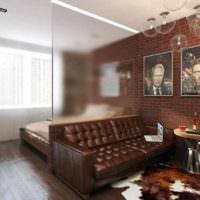 пример необычного проекта дизайна спальни фото
