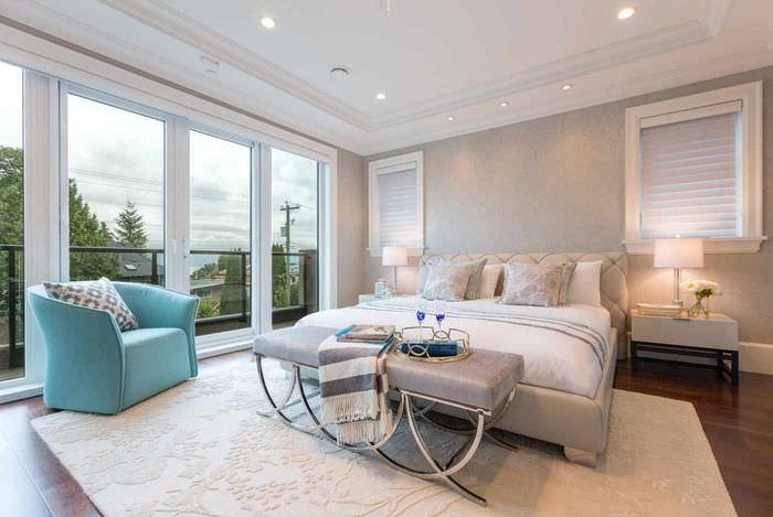 пример необычного проекта интерьера спальни