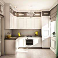 вариант светлого проекта стиля кухни фото