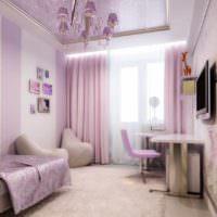 пример светлого дизайна спальной комнаты фото