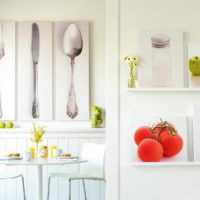 пример необычной поделки для интерьера кухни картинка