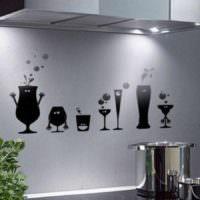 вариант красивой поделки для дизайна кухни картинка