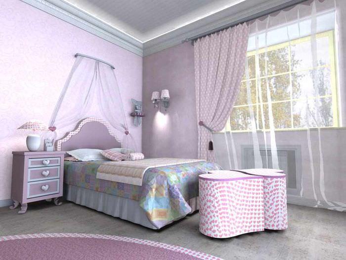 пример красивого дизайна спальни для девочки