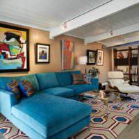 пример яркого интерьера квартиры в стиле поп арт фото