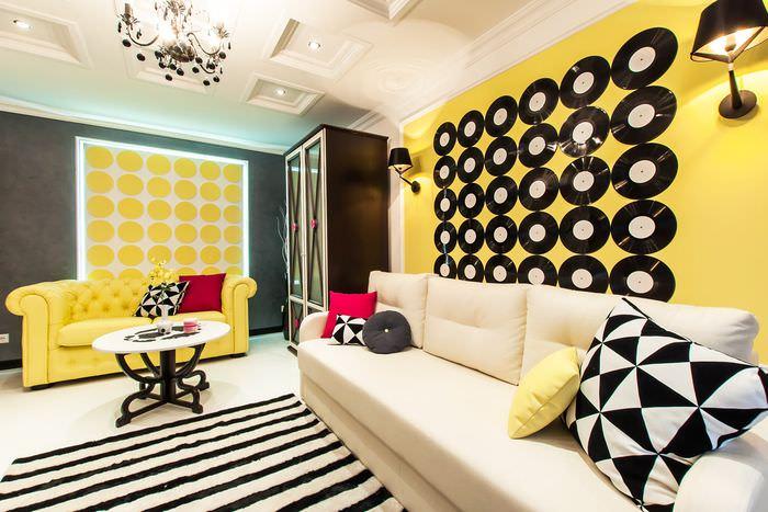 идея необычного декора комнаты в стиле поп арт