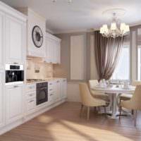 идея красивого интерьера окна на кухне картинка