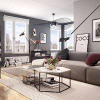 пример красивого дизайна гостиной фото