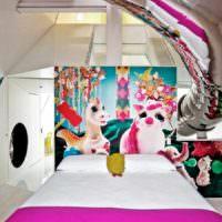 пример светлого декора квартиры в стиле поп арт картинка