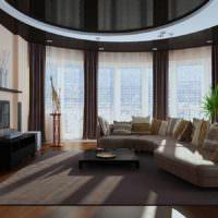 пример красивого стиля проходной гостиной фото