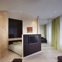 вариант красивого дизайна гостиной спальни 20 метров картинка