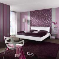 вариант светлого дизайна спальной комнаты фото