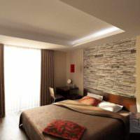 вариант красивого оформления стиля стен в спальне фото