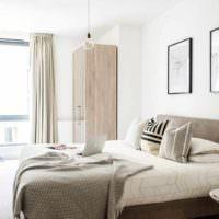 вариант красивого проекта дизайна спальной комнаты фото