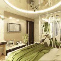 пример красивого проекта стиля спальни картинка