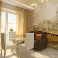 пример яркого проекта интерьера кухни картинка