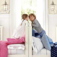 пример необычного дизайна детской комнаты для девочки фото