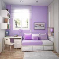 пример красивого интерьера спальной комнаты фото