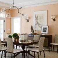 идея сочетания красивого персикового цвета в стиле квартиры фото