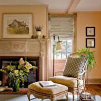 идея сочетания яркого персикового цвета в стиле квартиры картинка