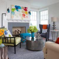 идея красивого дизайна комнаты в стиле поп арт картинка