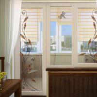 пример красивого интерьера окна на кухне фото