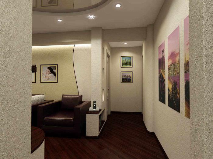 пример необычного стиля проходной гостиной