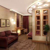 пример светлого стиля гостиной 20 метров картинка