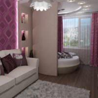 пример светлого интерьера спальни 20 метров картинка