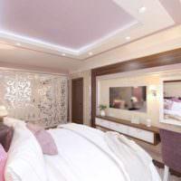 вариант светлого дизайна спальни картинка