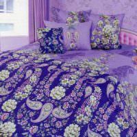 вариант яркого стиля спальной комнаты картинка