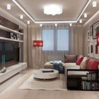 вариант необычного дизайна гостиной 20 метров фото