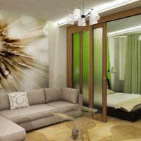вариант красивого интерьера гостиной спальни 20 метров фото