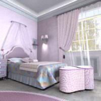 пример яркого дизайна спальной комнаты картинка