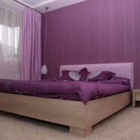 пример красивого стиля спальной комнаты фото