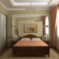 пример красивого проекта интерьера спальни фото