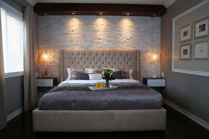 вариант красивого проекта стиля спальни