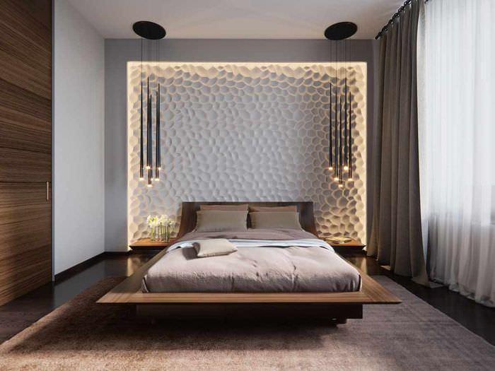 возник оформление зоны кровати в спальне фото подходит как