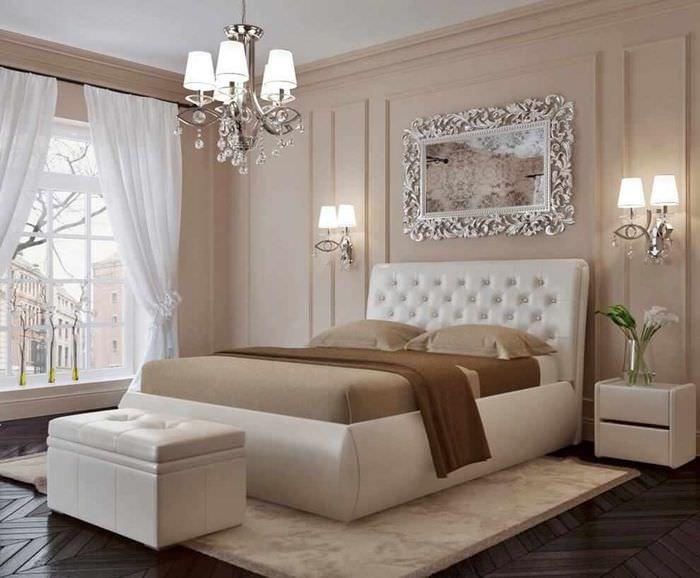 идея красивого интерьера изголовья кровати