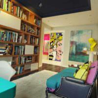 вариант светлого декора квартиры в стиле поп арт фото