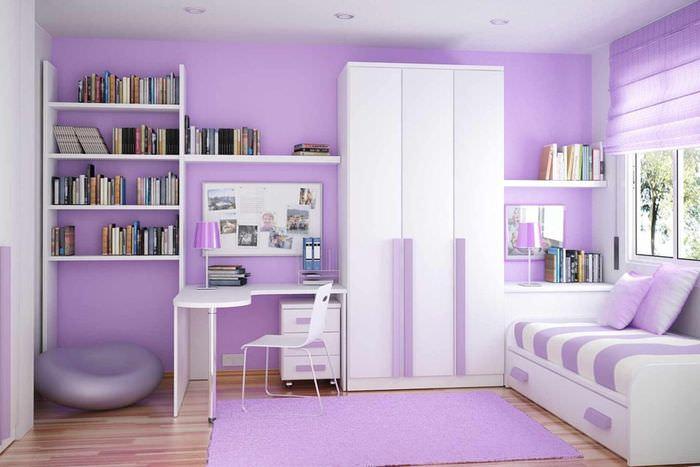 пример необычного стиля спальни для девочки