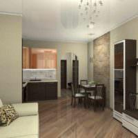 вариант красивого стиля гостиной спальни 20 метров фото
