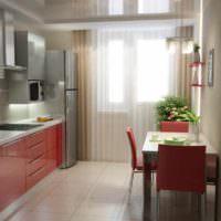 пример красивого дизайна окна на кухне фото