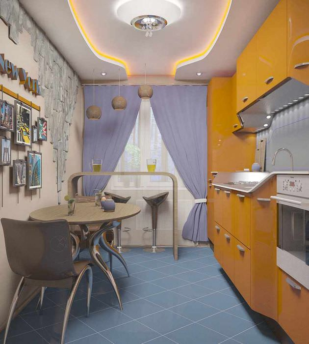 пример яркого проекта стиля кухни