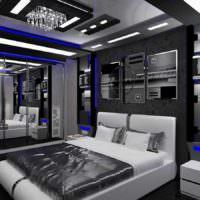 пример светлого проекта стиля спальной комнаты фото